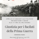 Giustizia per i fucilati della Prima Guerra
