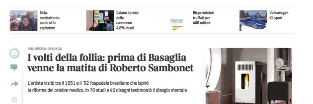 I volti della follia: prima di Basaglia venne la matita di Roberto Sambonet