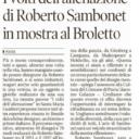 I Volti dell'alienazione di Sambonet in mostra al Broletto
