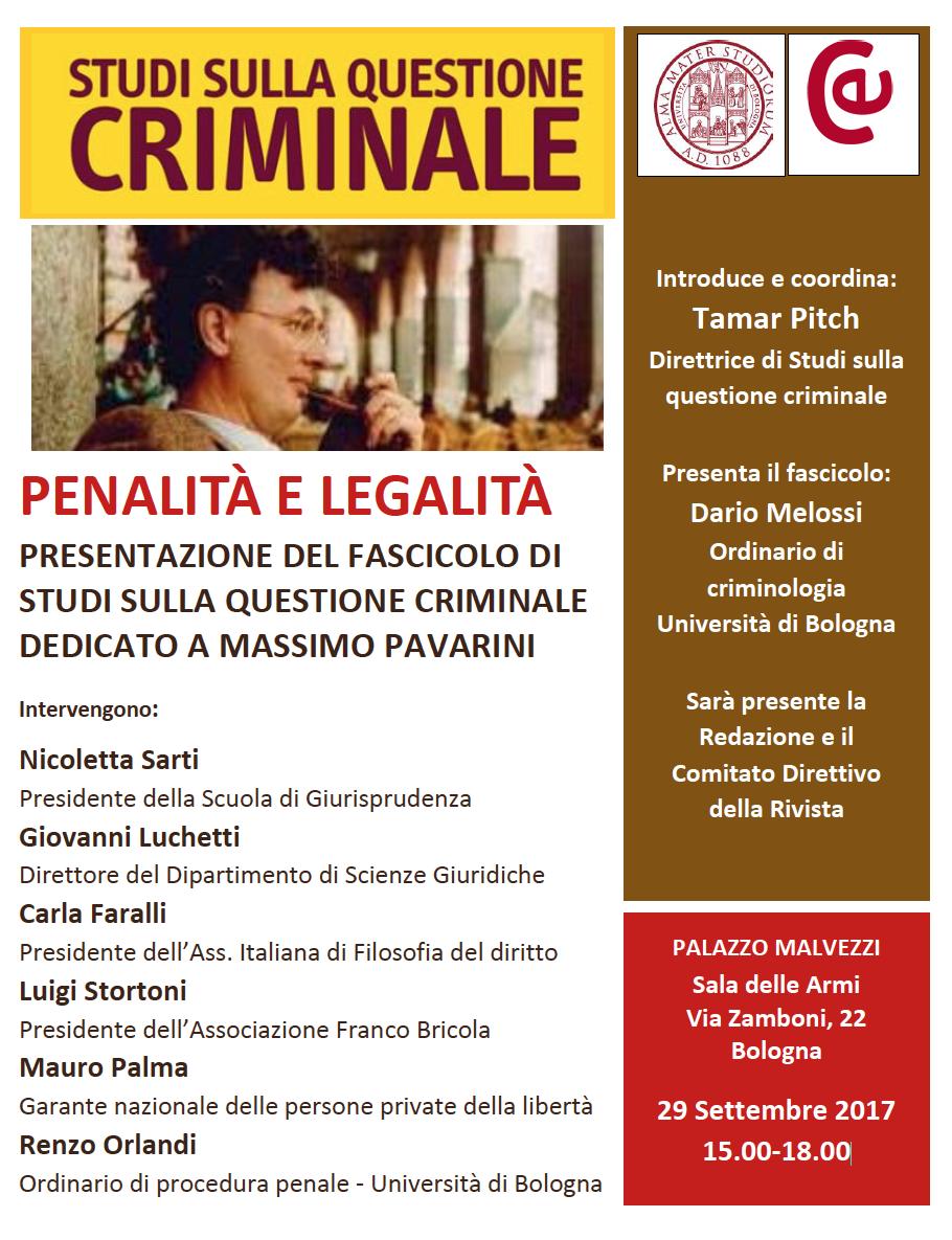 Questione Criminale Massimo Pavarini