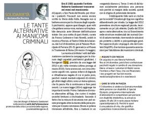 L'articolo di Antonella Barina sulla mostra sui manicomi criminali promossa da la Società della Ragione
