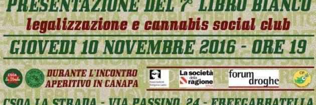 Presentazione Libro Bianco sulle Droghe a Roma