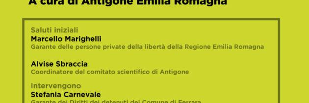 10 dicembre: si parla di Carcere, a Ferrara e non solo