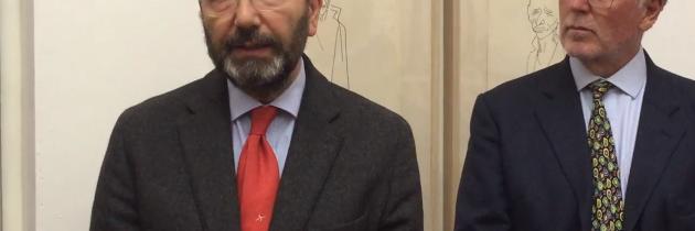 """Ignazio Marino in visita alla mostra """"I volti dell'alienazione"""""""