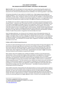 Ungass 2016: diplomazia o negazionismo
