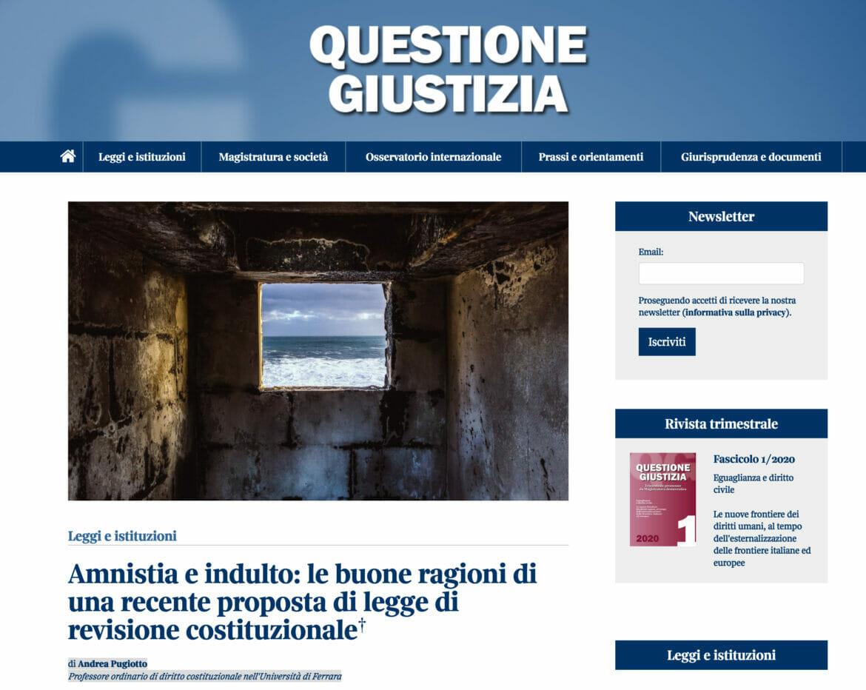 Clemenza Questione Giustizia