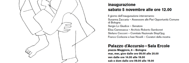 Inaugurazione I Volti dell'Alienazione di Roberto Sambonet a Bologna