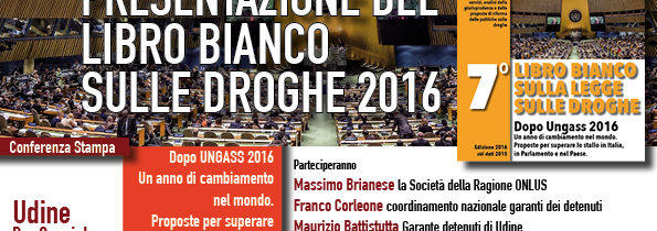 Presentazione del Libro Bianco sulle Droghe 2016